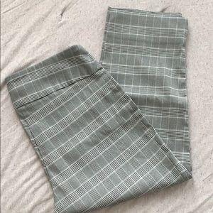 Pants - Plaid crop work pants size 6